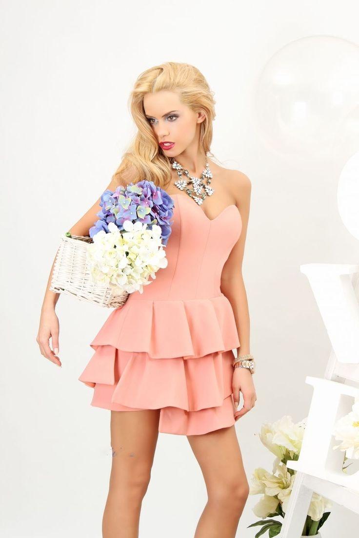 Dress Peach Obsession - Baronesa Fashion House