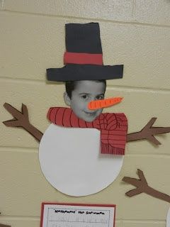 snowman with kids' faces
