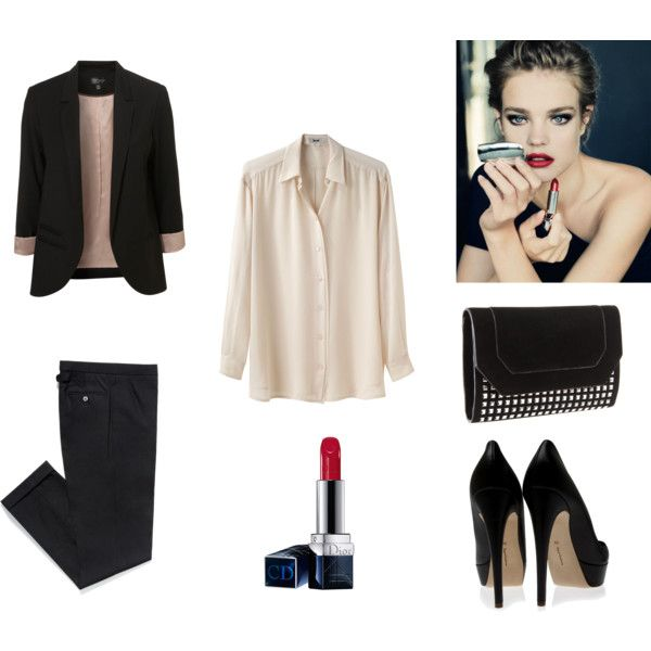 cocktail outfit: understated vamp.