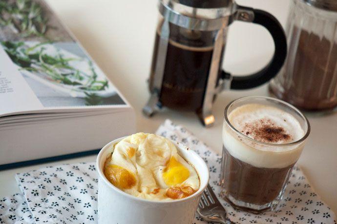 Æg og Spinat med Sennepscreme – 1 portion
