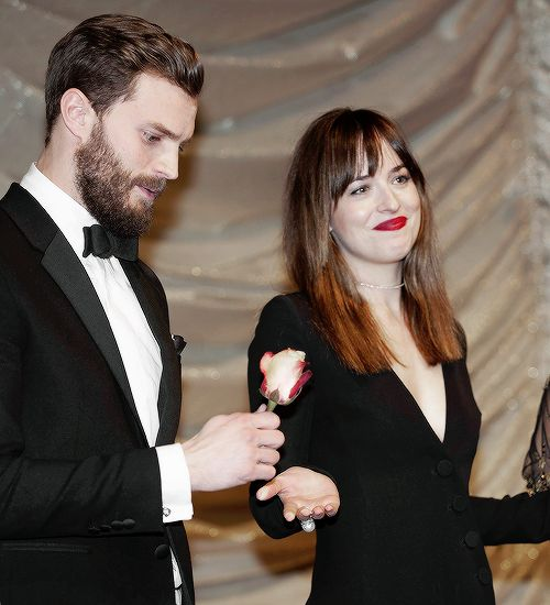 """"""" Have you met him!. He's the Best."""" Dakota Johnson """"Dakota and I are going to be friends for life."""" Jamie Dornan"""