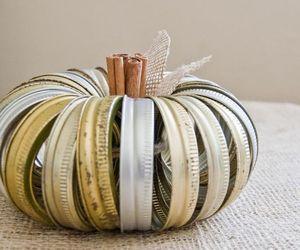 canning jar ring pumpkin, crafts