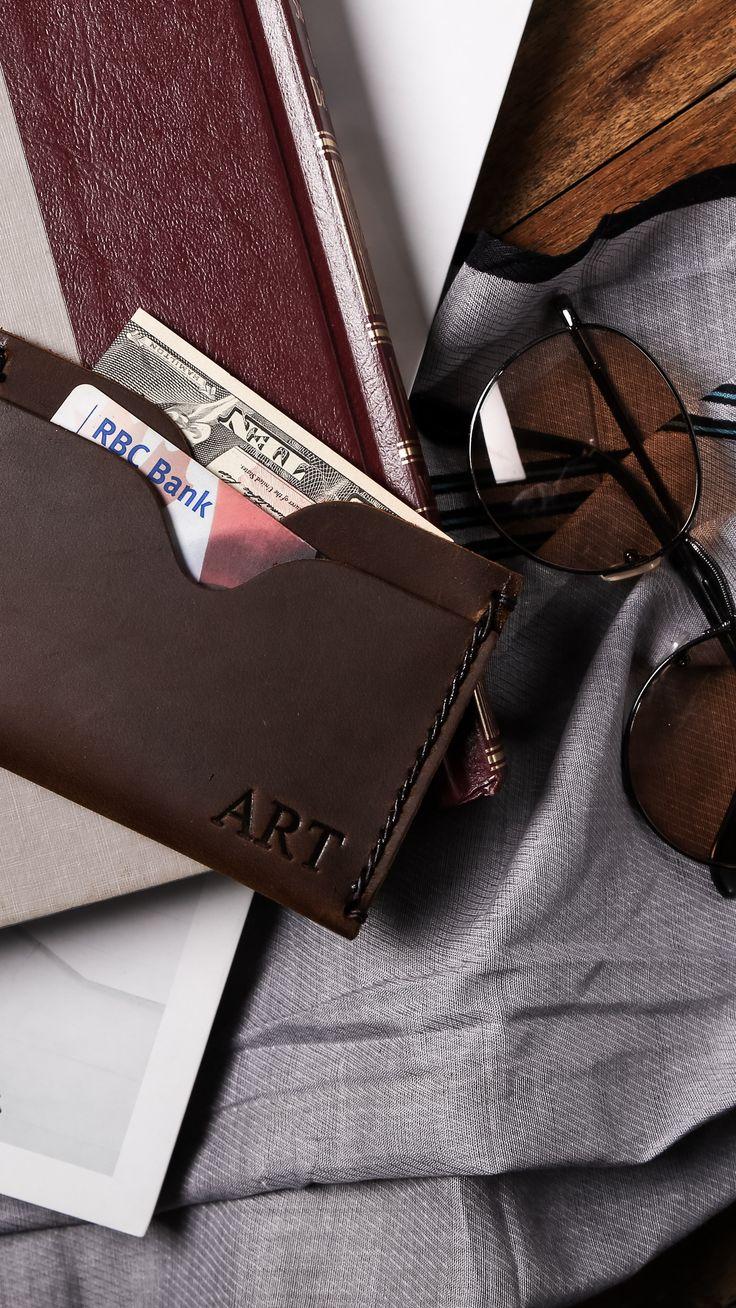 Personalized Kickstarter Minimalist Wallet, Voted Best Front Pocket Wallet, Men's Leather Wallet, Mens Wallets, Groomsmen Gifts, Leather Wallets