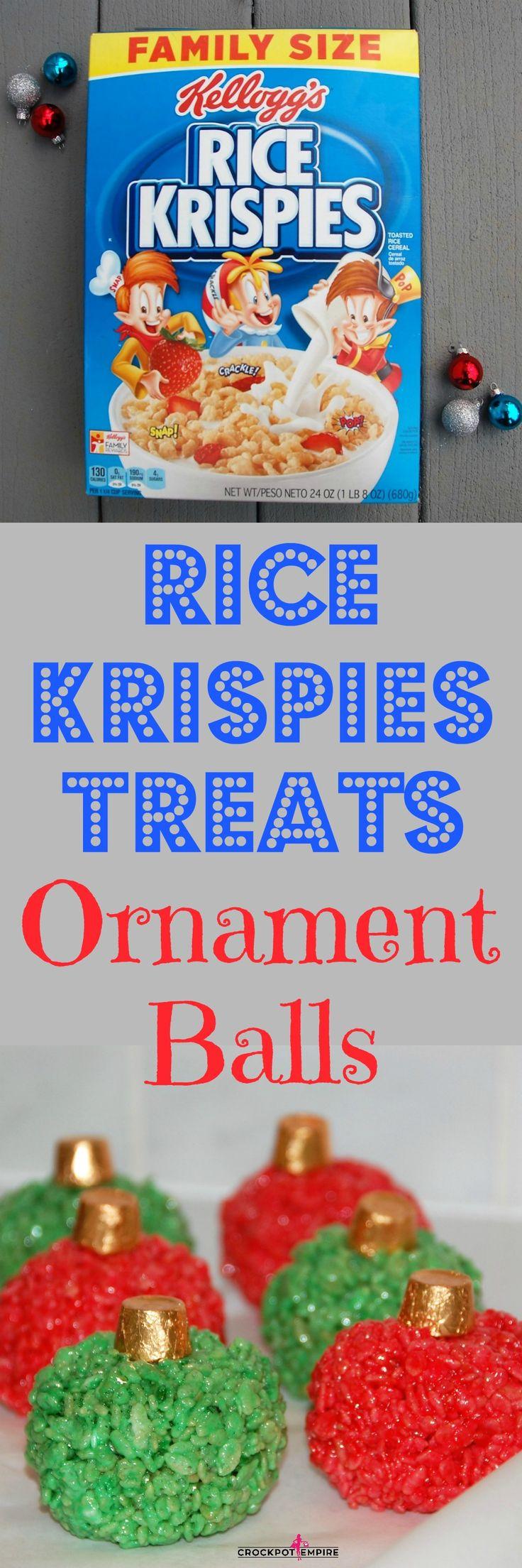 Rice Krispies Treats Ornament Balls #HolidayTreatMaking #Ad