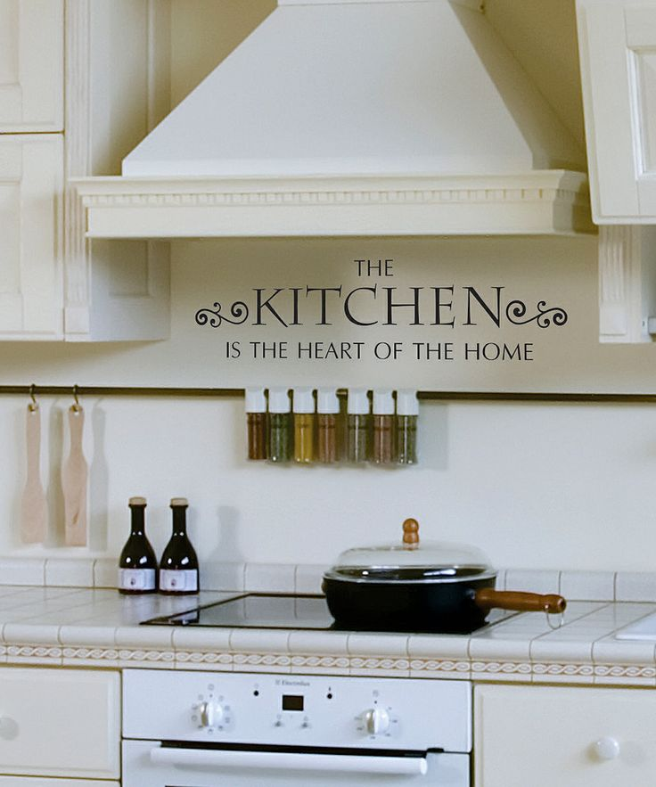 Kitchen 'Heart Of Home' Wall Quotes Decal