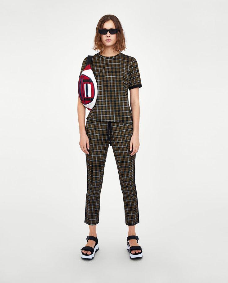 ジャガードTシャツ-半袖-Tシャツ-レディース | ZARA 日本