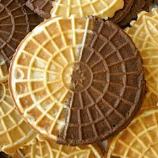 Chocolate Pizzelle : King Arthur Flour used 100% whole wheat and they were delicious