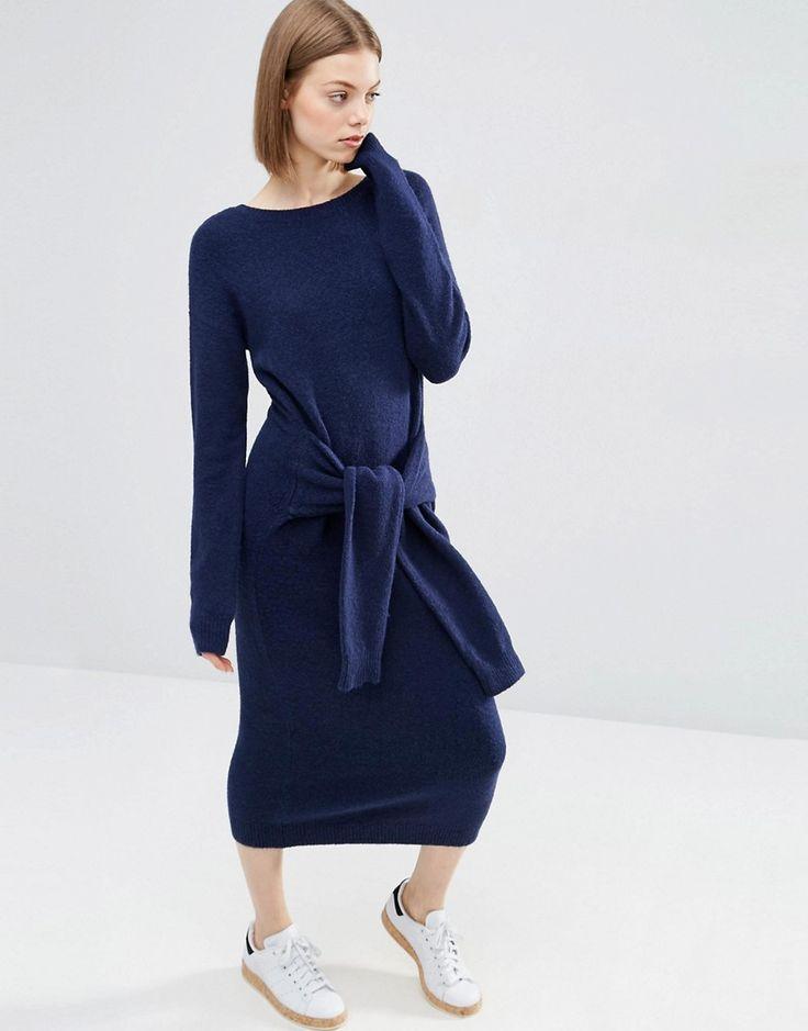 Bild 1 von ASOS – Pulloverkleid mit Schnürung