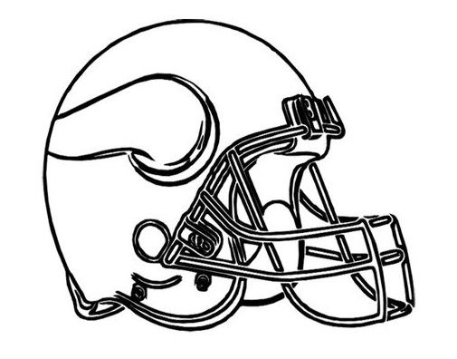 Nfl Football Helmet For Games Coloring Page Football Coloring