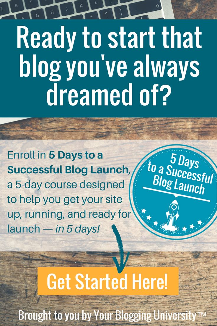 Enroll in 5 Days to a Successful Blog Launch and get the scoop on the whats, hows, and whys involved with getting your blog ready and published—in 5 days! via @momismore