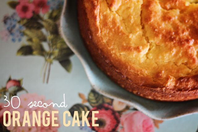 In the Thermomix: 30 second whole orange cake - Fat Mum Slim