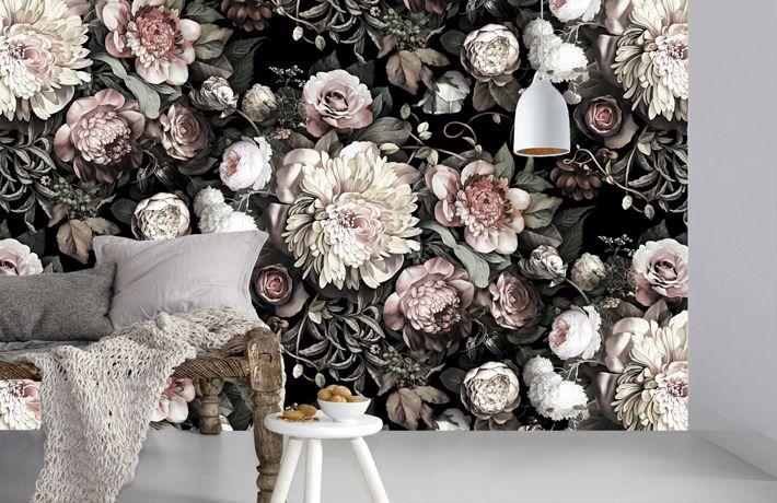 710x460px Ellie Cashman Floral Wallpaper