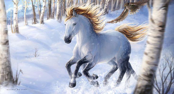 Who is faster - Sleipnir or hawk Habrok? by AlsaresLynx