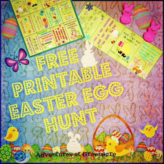 Free Easter egg hunt clues printable