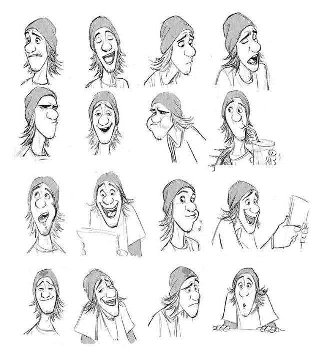 """Fred"" by Jin Kim* Expression Sheet 