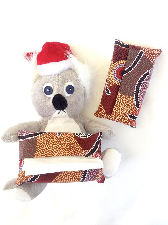 Australian Stocking Fillers Two Small Tissue Holders Pocket