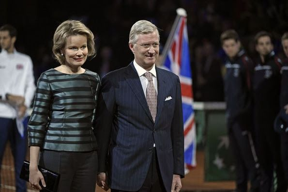 NewMyRoyals:  Queen Mathilde and King Philippe attended the opening ceremony of the Davis Cup Final, Belgium vs. Great Britain, Ghent, November 27, 2015