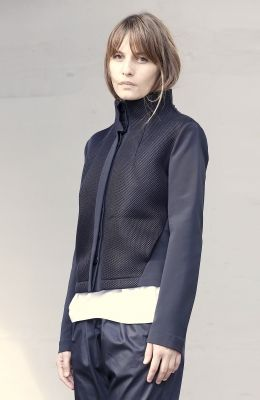 Black jacket with foam front