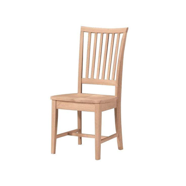 International Concepts Mission Unfinished Wood Dining Chairs Set Of 2 265P