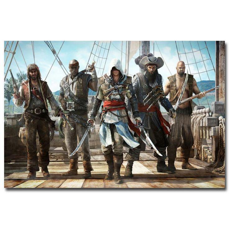 Assassins Creed Black Flag Silk Poster