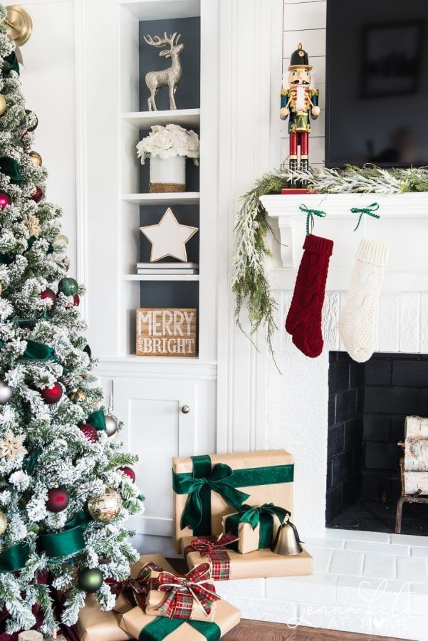 Dark Green Burgundy Christmas Tree Traditional Christmas Decorations Red Christmas Decor Christmas Home