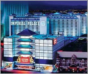 "Imperial Palace, Las Vegas, built in the 80s, sold several times in the last decade, now a part of ""The Quad"" owned by Caesar's Entertainment, and along with O'Shea's undergoing massive renovation and recombination, to bring the resort up to Strip standards."