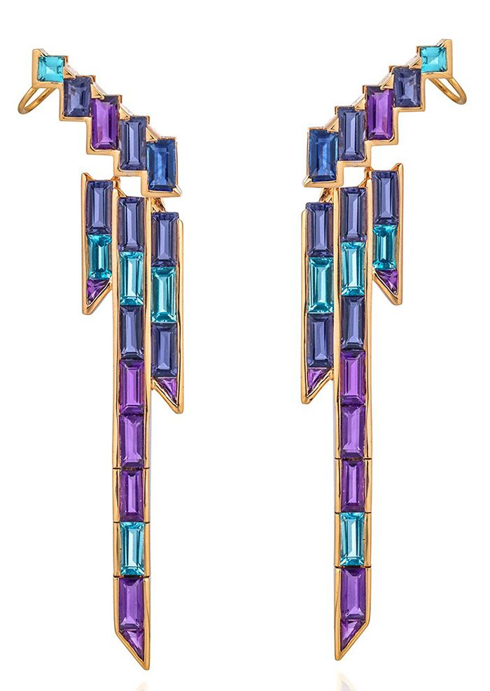 Tomasz Donocik Electric Night Earrings
