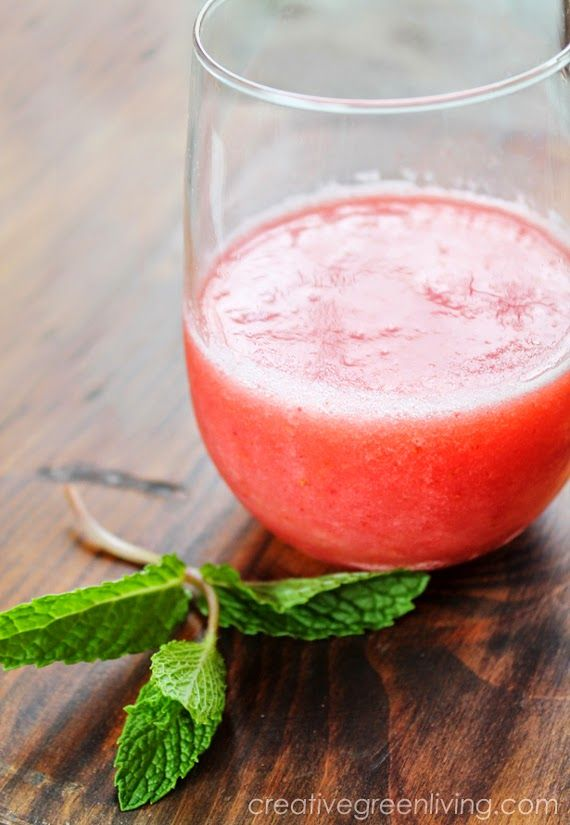 Watermelon Coconut Water Refresher smoothie recipe. Perfect refreshing blended drink for summer.