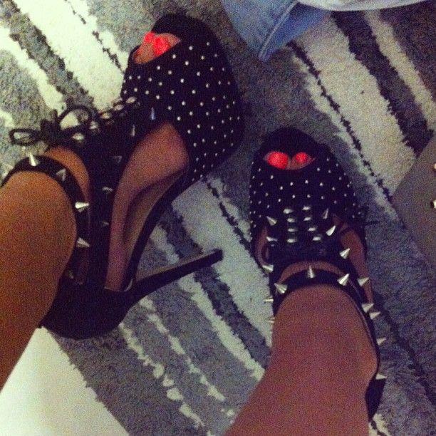Studded Spike Heels