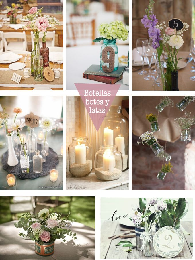 En una boda amigable con la ecolog a es fundamental el for Decoracion vintage reciclado