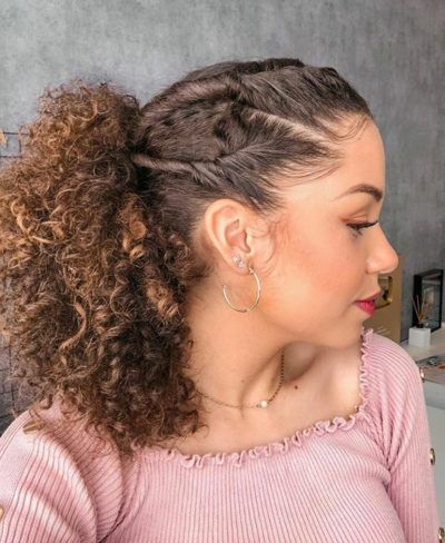 Cabello Afro Natural, Pelo Natural, Work Hairstyles, Curled Hairstyles, Cabelo 3c 4a, Curly Hair Designs, Natural Hair Styles, Short Hair Styles, Curly Hair Updo