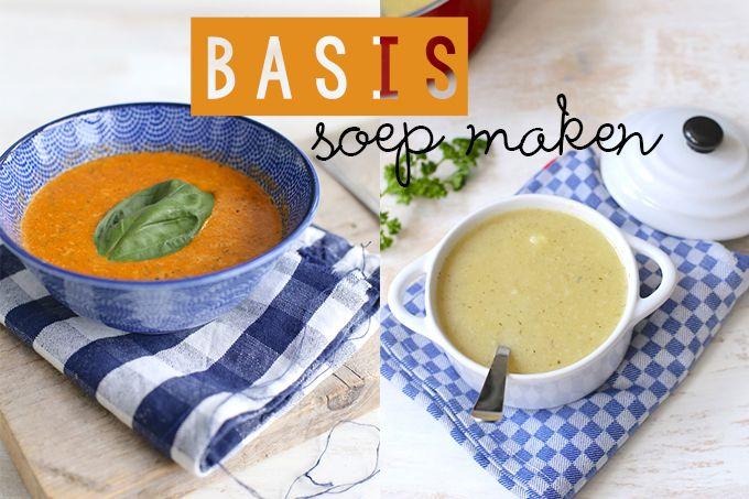 In dit artikelen vertellen we je hoe je een basis soep moet maken. Met deze basis kun je eigenlijk allerlei verschillende soepen maken.