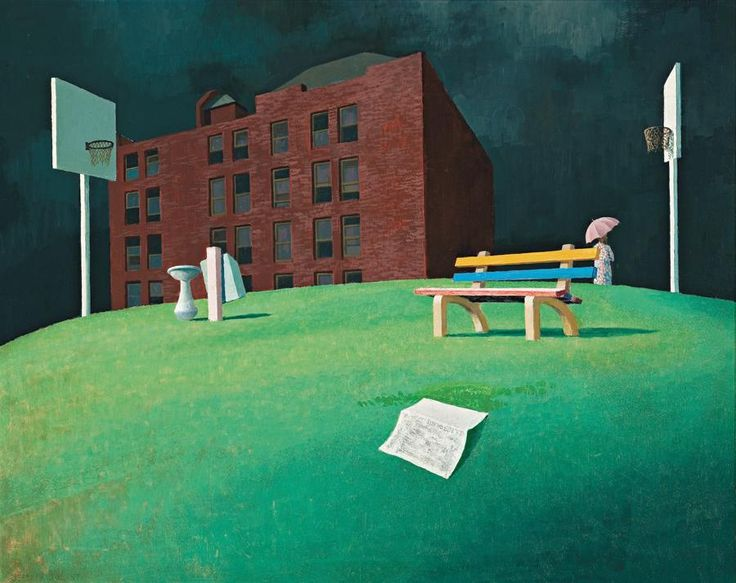 Jeffrey Smart (1921-2013) - The Park, 1960