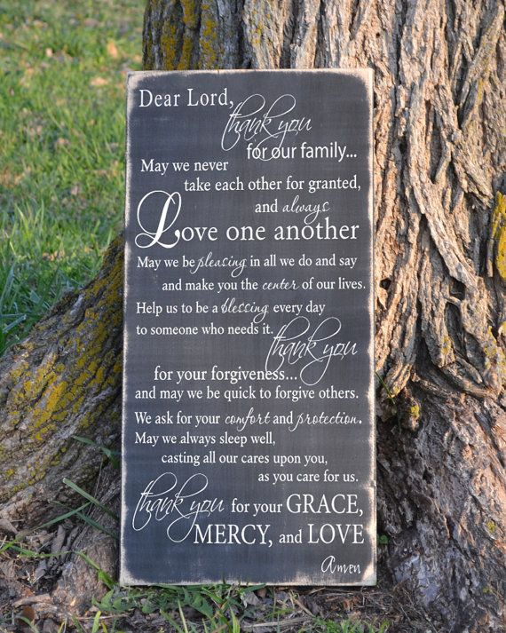 Family Prayer  painted wood sign