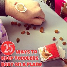 Traveling with toddlers can come as a challenge. Here are 25 ways to keep your toddler busy on the long flight.