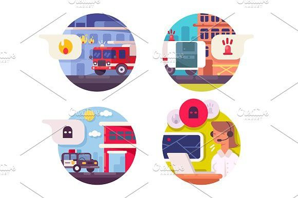 Emergency call icons set. Clinic #service