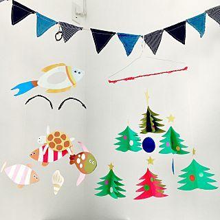 モビール 手作りのインテリア実例   RoomClip (ルームクリップ) On Walls/クリスマス/ガーランド/リノベーション/中古住宅/子供と暮らす。