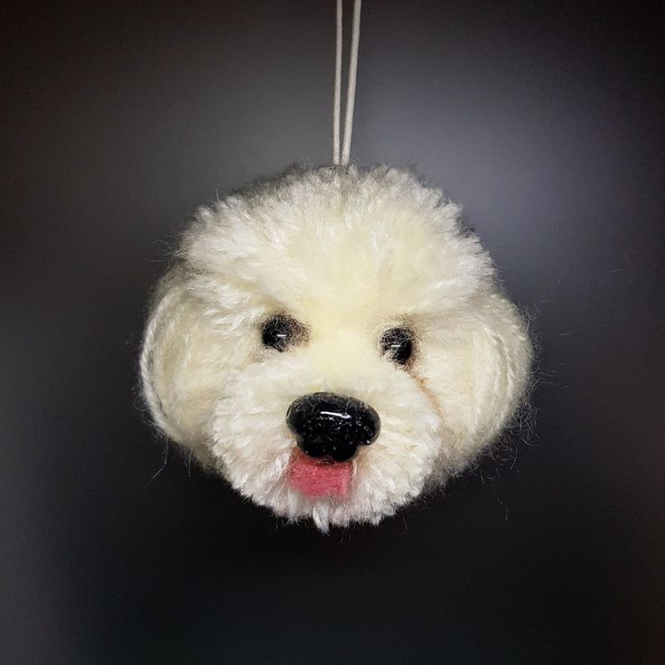 Pom pom dog Handcraft