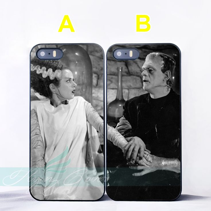 Bride of Frankenstein Mad Lovers Couple Case for iPhone 7 6S 6 5S SE 5C 5 4S 4 7 Plus Case for iPod Touch 6 iPod Touch 5 Cover.