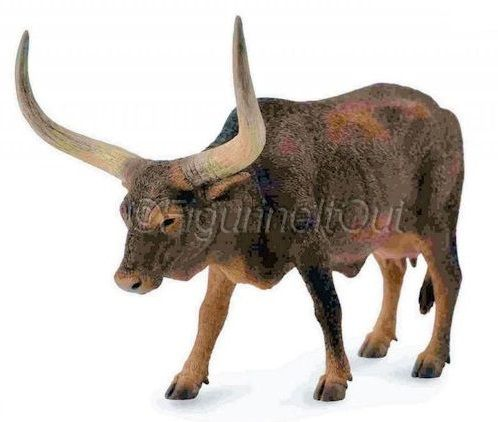 Ankole-Watusi Cow-Farm Animal-Toy Replica Figure-CollectA 88649-manufacturer's stock image
