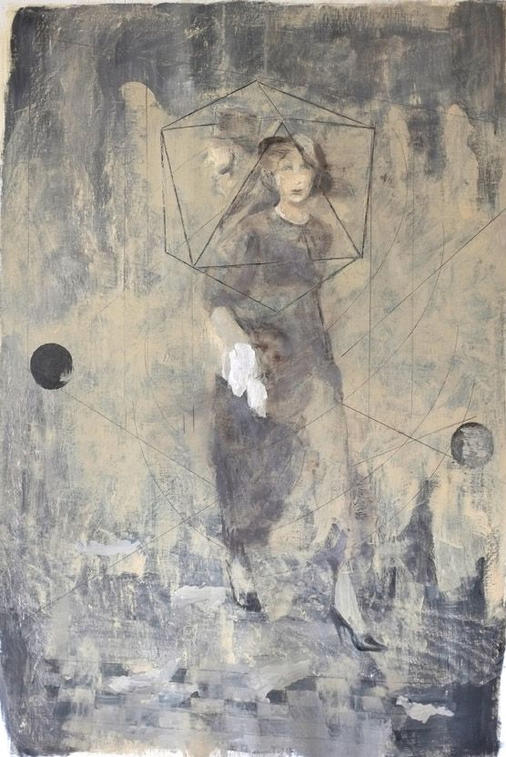Bogdan Vladuta, Polyhedron Woman, 2013 oil on canvas 80.7 x 54.3 in (205 x 138 cm)