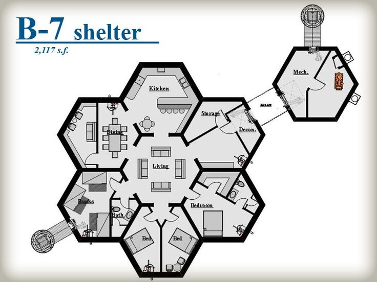 The honey bee under ground shelter's that are prefab B-7 Shelter