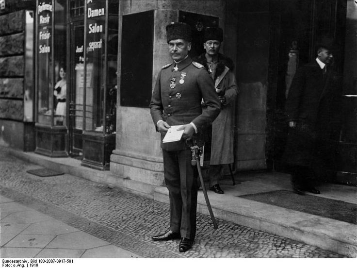 """Otto Viktor Karl Liman von Sanders.Turks called him """"Liman Pasha"""" or """"Lion of Gallipoli"""".German General and Military commander for the Ottoman Empire during the World War I."""