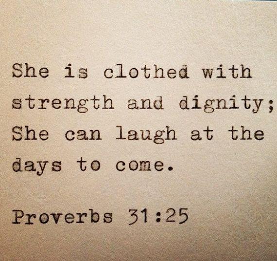 Proverbs 31:25 Typed on Typewriter
