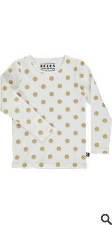 T-shirt l/æ - Gold01