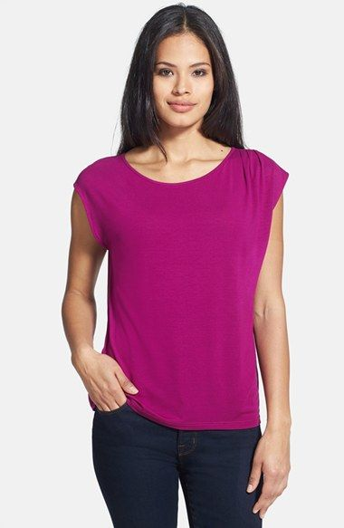 Eileen Fisher Ballet Neck Cap Sleeve Top (Regular & Petite) available at #Nordstrom