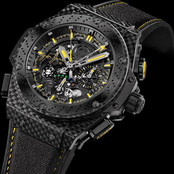 Celebrating the 50th anniversary of the great Brazil's race pilot, Ayrton Senna, in 2010 Hublot launched the limited edition of Hublot King Power Ayrton Senna. They only made 500 pieces of this model.