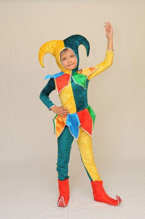 Детский новогодний карнавальный костюм Арлекино