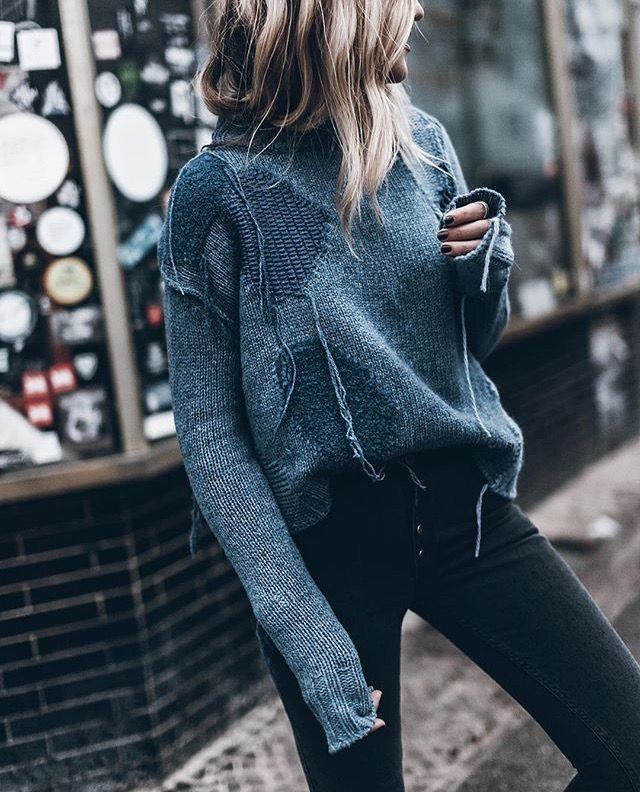 Warm casual winter outfit ideas sweater style
