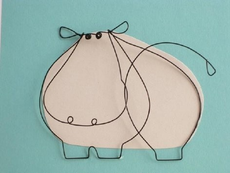 Hippo wired...I love wire art!